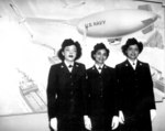 US Navy WAVE Hospital Apprentices 2nd class R. Isaacs, K. Horton, and I. Patterson were the first African-Americans at the Hospital Corps School, Bethesda, Maryland, US, 2 Mar 1945
