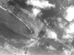 Bombing dropping on the rail station at Toshien District, Takao (now Zuoying District, Kaohsiung), Taiwan, 16 Oct 1944