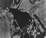 Takao (now Kaohsiung) harbor under US aerial attack, Taiwan, 17 Nov 1944, photo 2 of 5
