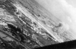 Shoka Airfield in Shoka (now Changhua), Taiwan under US Navy carrier aircraft attack, 12 Oct 1944, photo 2 of 2