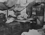 Interior of a Japanese prisoner of war camp for American captives, Taiwan, 5 Sep 1945