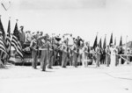 US Marines at the National Memorial Cemetery of the Pacific, Honolulu, US Territory of Hawaii, 29 May 1950