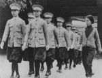 Chinese female police force being trained by the Japanese occupation administration, Beiping, China, 1937-1945