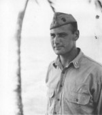 Portrait of Harry Barker of Company L, 3rd Battalion, US 9th Marine Regiment while on Guadalcanal, 1943