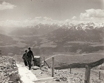 US soldiers on a path high on the Tyrol Schistose Alps near Innsbruck, Austria, 27 May 1945