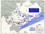 Map noting American carrier operations, 7 Dec 1941-18 Apr 1942