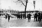 SS personnel at Dachau Concentration Camp during SS-Reichsführer Heinrich Himmler