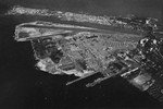 Aerial view of Naval Air Station Isla Grande, San Juan, Puerto Rico, as it appeared in the Jun 1947 edition of the