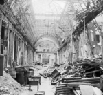 Scene of destruction in the Linden Passage, the famous Berlin, Germany shopping area on the Unter den Linden, 3 Jul 1945
