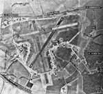 Aerial view of RAF Kings Cliffe airfield, England, United Kingdom, 16 Jan 1947