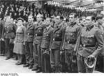 German troops being honored at the Sportpalast for taking part in the rescue of Mussolini, Berlin, Germany, 3 Oct 1943