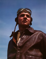 Portrait of an American YB-17 bomber pilot, May 1942