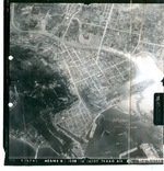 Aerial view of American bombing of Takao (now Kaohsiung), Taiwan, 1 Jun 1945, photo 4 of 4