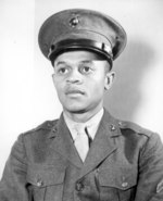 Howard P. Perry, the first African-American to enlist in the United States Marines Corps on 1 Jun 1942
