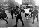 German SA men publicly humiliating Jewish attorney Michael Siegel, München, Germany, 10 Mar 1933, photo 1 of 2
