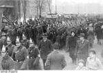 Nazi Party members parading near Lustgarten, Berlin, Germany, 26 Feb 1933