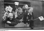 Children being evacuated by train out of Berlin, Germany, 1939-1945