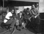 African-American US Merchant Marine sailors R. C. Woods, A. M. Mulzac, W. B. Shepard, and S. O
