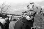 Villagers sending off conscripts, Nikolayev, Russia, 13 Sep 1941