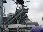 Harpoon missile launchers aboard New Jersey, 14 Jun 2004, photo 1 of 2