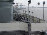 Chaff launchers aboard New Jersey, 14 Jun 2004, photo 1 of 2