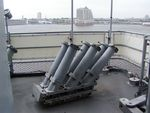 Chaff launchers aboard New Jersey, 14 Jun 2004, photo 2 of 2