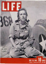WASP trainee pilot Shirley Slade on the cover of the 19 Jul 1943 issue of Life Magazine