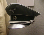German SS officer service cap on display at the West Point Museum, United States Military Academy, West Point, New York, United States, 22 Sep 2007