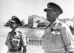 British generals Alexander and Leese decorated with Polish Virtuti Military Cross awards, Italy, Jul 1944