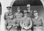 Major General Iven Mackay of Australian 6th Division and his senior staff officers, Ikingi Maryut, Egypt, Dec 1940