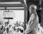 Bai Chongxi at a mosque during a Muslim holiday, Taiwan, Republic of China, 1950s