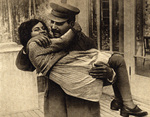 Joseph Stalin with his daughter Svetlana, 1935