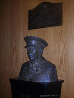 Bust of Bernadotte in the United Nations, New York City, New York, United States, 13 Dec 2008