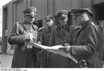 German Generals Blaskowitz and Weichs studying a map in Warsaw, Poland, Sep-Oct 1939, photo 1 of 3