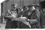 German Generals Blaskowitz and Weichs studying a map in Warsaw, Poland, Sep-Oct 1939, photo 2 of 3