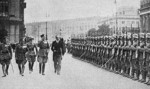 Józef Beck and Werner von Blomberg inspecting German troops, Berlin, Germany, 1935
