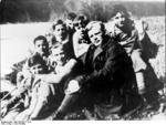 Dietrich Bonhoeffer with students, spring 1932