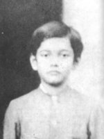Subhash Chandra Bose as a child, 1906; this photo was cropped from a portrait containing other members of his family