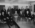 US and British leaders aboard US President Harry Truman