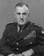Portrait of Lieutenant General Edward Brooks, 19 Mar 1953; note writing by Colonel R. Potter Campbell, Jr. to Brooks