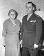 US Marine Corps Colonel Clifton Cates with his mother, 26 Mar 1943