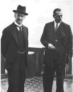 Chamberlain and ambassador to Germany Neville Henderson, circa late 1930s
