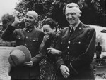 Chiang Kaishek, Song Meiling, and Joseph Stilwell at Maymyo, Burma, 19 Apr 1942, photo 2 of 3