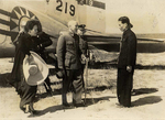 Chiang Kaishek and Song Meiling at an airfield in Taiwan, Republic of China, 21 Oct 1946