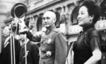 Chiang Kaishek and Song Meiling in front of the Presidential Office Building, Taipei, Taiwan, Republic of China, 1950