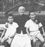 Chiang Kaishek with family, circa 1950s