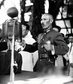 Chiang Kaishek speaking to troops, circa 1930s