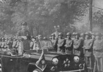 Chiang Kaishek inspecting troops, date unknown