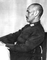 Chiang Kaishek seated at a table, date unknown