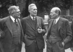 Ben Chifley, Herbert Evatt, and Clement Attlee at the Dominion and British Leaders Conference, London, England, United Kingdom, 1946